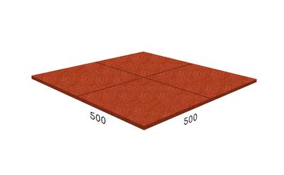 Резиновая плитка Rubblex Prom красная