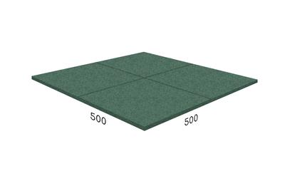 Плитка резиновая Rubblex Roof зелёная