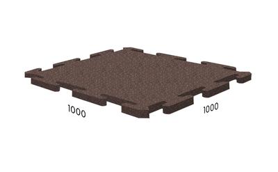 Плитка резиновая Rubblex Sport коричневая