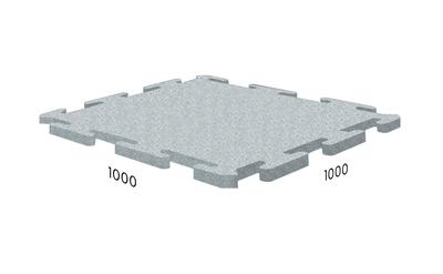 Резиновая плитка 1000х1000х40