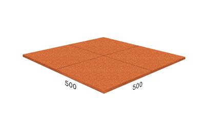 Резиновая плитка Rubblex Prom оранжевая