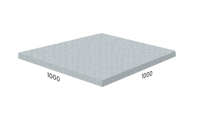 Резиновая плитка Rubblex серая