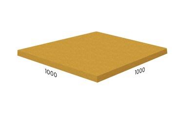Резиновая плитка Rubblex жёлтая