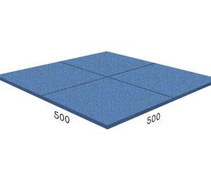 Резиновая плитка 500x500x40