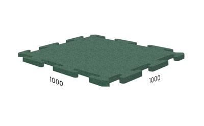 Резиновая плитка Rubblex Ice зелёная