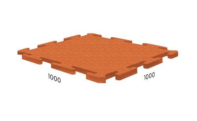 Резиновая плитка Rubblex Ice оранжевая
