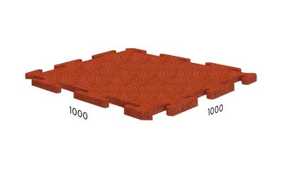 Резиновая плитка Rubblex Ice красная
