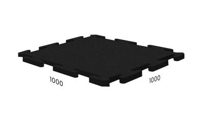 Резиновая плитка Rubblex Ice чёрная