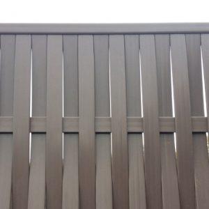 Забор из ДПК (плетеный) вертикальный