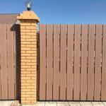 Забор из ДПК (штакетник)