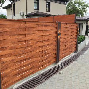 Забор из ДПК (плетеный) горизонтальный