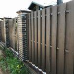 Забор из ДПК вертикальный вентилируемый